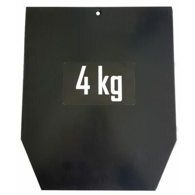 SVELTUS 4KG STEEL PLATES FOR VEST PRO súlymellény bővítés