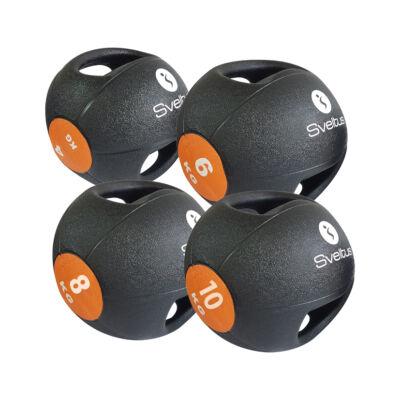 SVELTUS DOUBLE GRIP MEDICINE BALL fogantyús medicin labda (4KG)